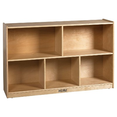 "ECR4Kids Birch 5 Compartment Storage Cabinet 30"" - Brown"