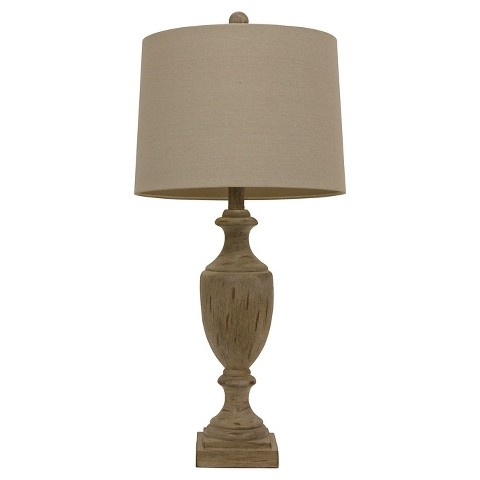 hunt natural wood table lamp product details page. Black Bedroom Furniture Sets. Home Design Ideas
