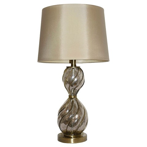 hunt antique mercury glass table lamp silver tan product details. Black Bedroom Furniture Sets. Home Design Ideas