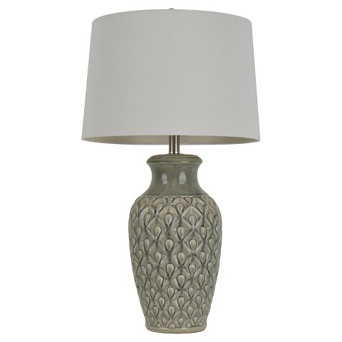 hunt crackle table lamp ivory white 30 product details page. Black Bedroom Furniture Sets. Home Design Ideas