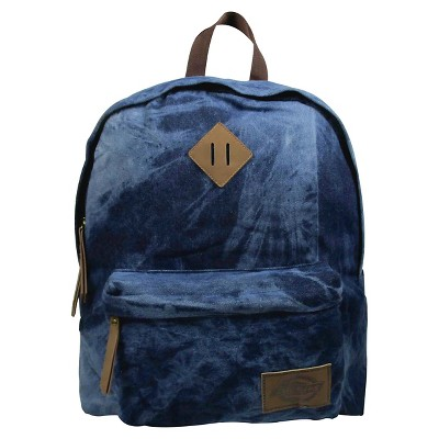 Dickies® Printed Classic Canvas Backpack Handbag with Front Zip Pocket - Blue