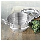 CHEFS Stainless Steel Universal Steamer Insert with Lid