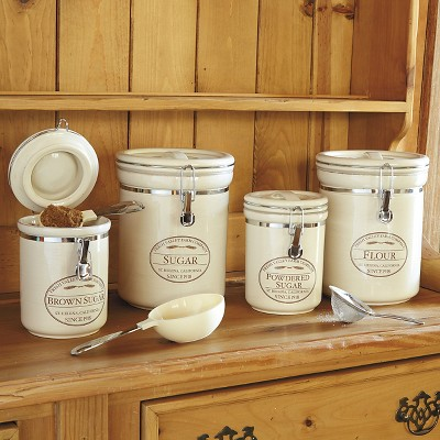 Ecom Food Storage Canister Set Chefs Neutral