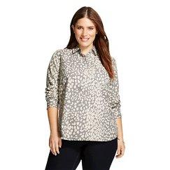 Women's Plus Size Printed Favorite Shirt  - Merona™
