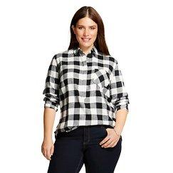 Women's Plus Size Plaid Favorite Shirt - Merona™