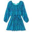 Girls' Lots of Love Empire Dress - Turqoise/Blue