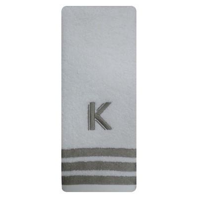 Modern Monogram Hand Towel K - Threshold™
