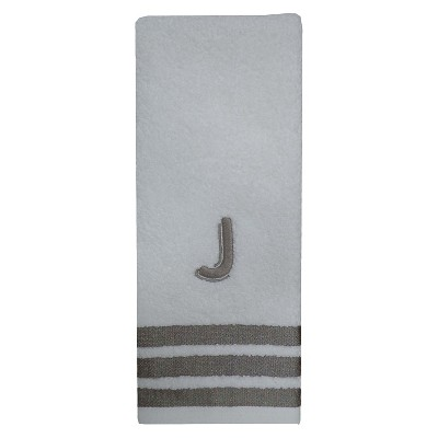 Modern Monogram Hand Towel J - Threshold™