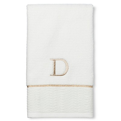 Classic Monogram Hand Towel D - Threshold™