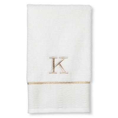 Classic Monogram Hand Towel K - Threshold™