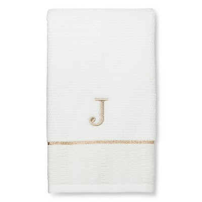 Classic Monogram Hand Towel J - Threshold™