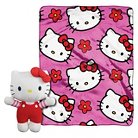 """Hello Kitty Pillow and Throw Set - Multi-Colored (40""""X50"""")"""