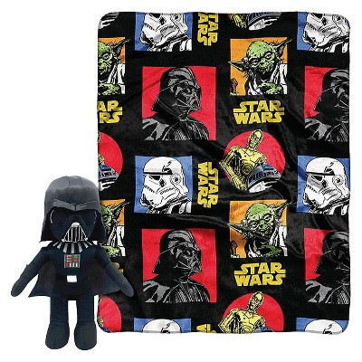 "Star Wars Darth Pillow and Throw Set - Multi-Colored (40""X50"")"