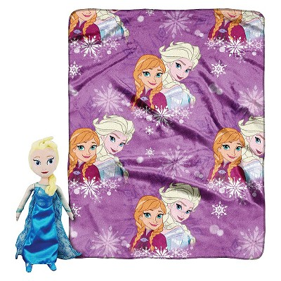 "Disney® Frozen Elsa Pillow and Throw Set - Multi-Colored (40""X50"")"