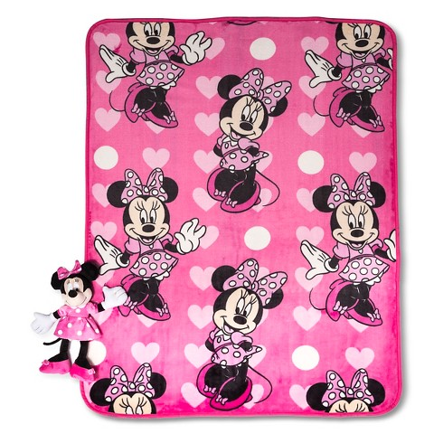 Minnie Throw And Pillow Set : Disney Minnie Pillow and Throw Set - 40x50