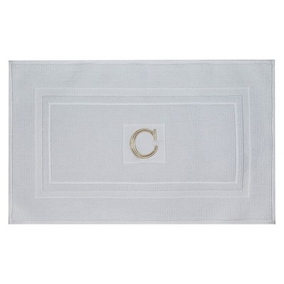Bath Mat Monogram C White - Threshold™
