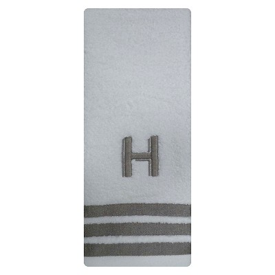 Modern Monogram Hand Towel H - Threshold™