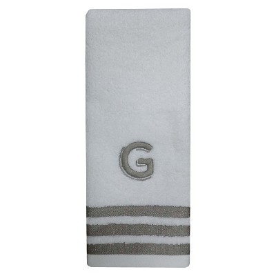 Modern Monogram Hand Towel G - Threshold™