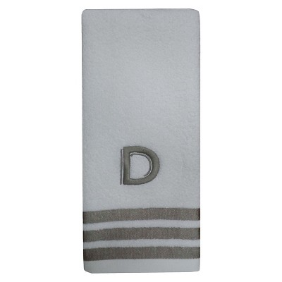 Modern Monogram Hand Towel D - Threshold™