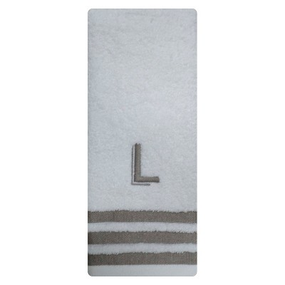 Modern Monogram Hand Towel L - Threshold™