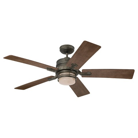 "Emerson Amhurst 54"" Ceiling Fan Steel Tar"