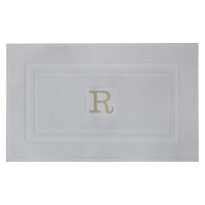 Bath Mat Monogram R White - Threshold™