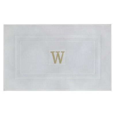Bath Mat Monogram W White - Threshold™