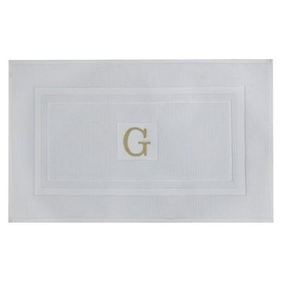 Bath Mat Monogram G White - Threshold™