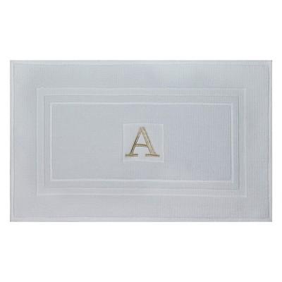 Bath Mat Monogram A White - Threshold™