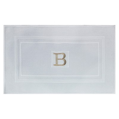 Bath Mat Monogram B White - Threshold™