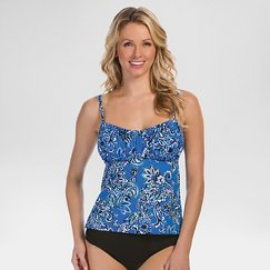 Women's Over the Shoulder Tankini - Aqua Green®