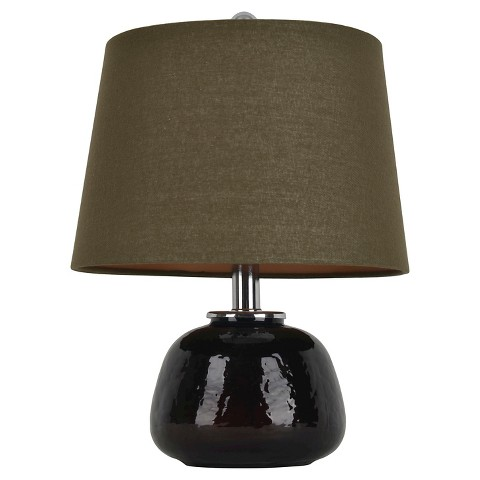 hunt mocha modern table lamp product details page. Black Bedroom Furniture Sets. Home Design Ideas