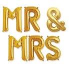 """Hortense B. Hewitt Mr & Mrs Balloon Kit - Gold (16"""")"""