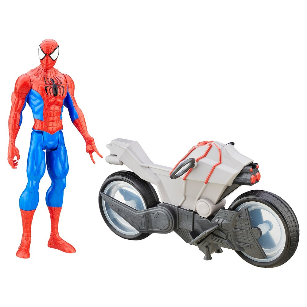 Ultimate Spider-Man vs. The Sinister Six: Titan Hero Series Spider-Man with Spider Cycle