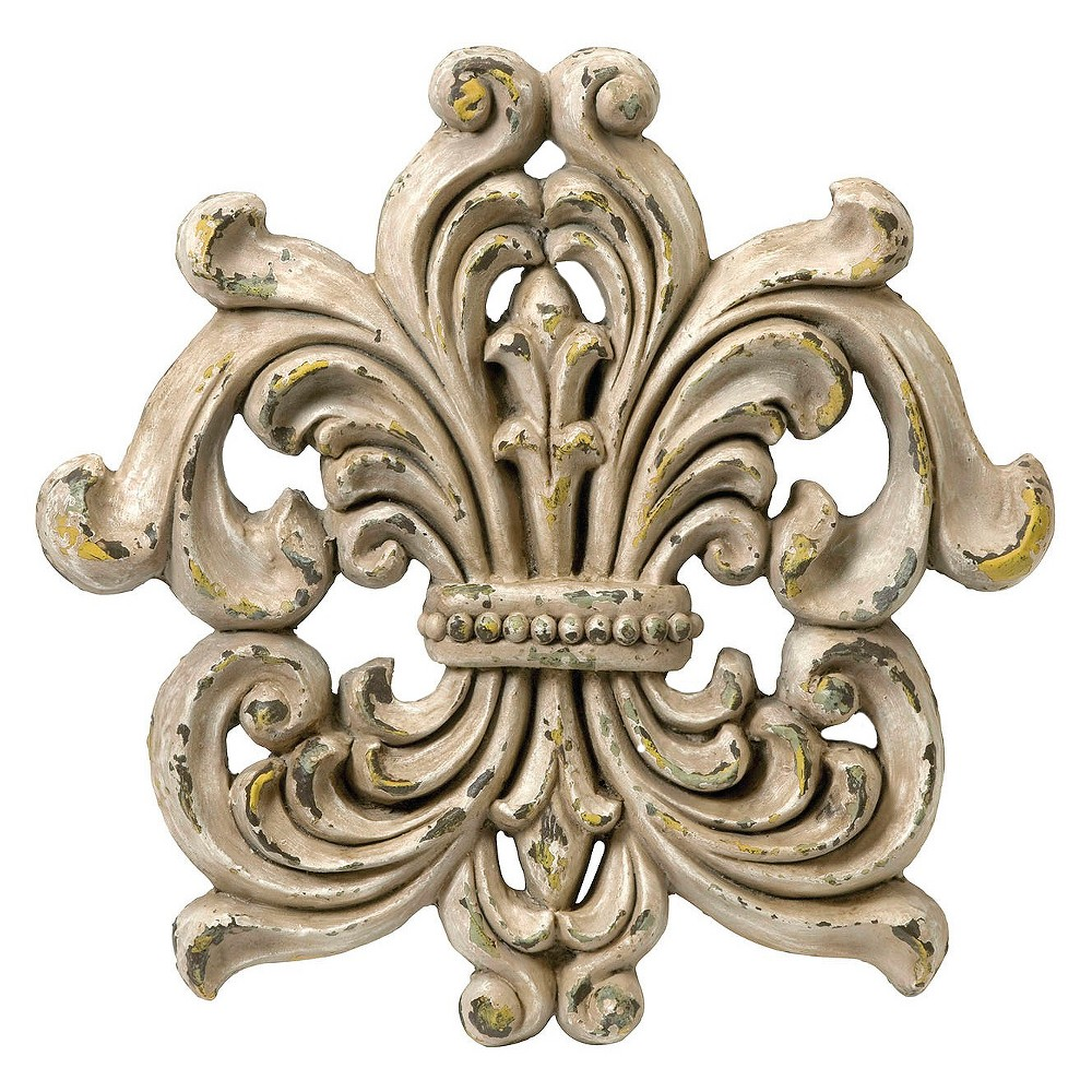 "Aurora Decorative Wall Sculpture - Beige (13 X 20.75 X 20.5"")"