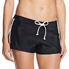 Women's Swim Sport Short - Black/White XL - Mossimo