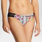 Women's Strappy Bikini Bottom - White Print - XS - Xhilaration™