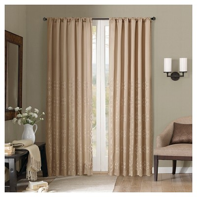 "Alexa Fretwork Curtain Panel - Safari (50""x84"")"