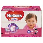 Huggies Little Movers Diaper Pants for Girls Size 4 (68 Count)