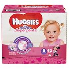 Huggies Little Movers Diaper Pants for Girls Size 5 (60 Count)