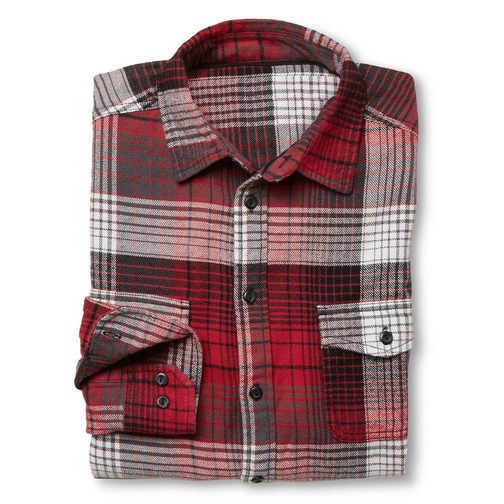 Men 39 S Big Tall Flannel Shirt Red