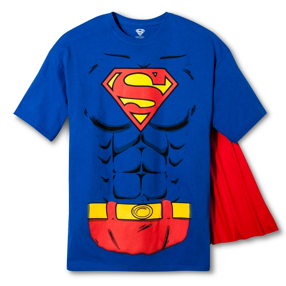 Men 39 S Superman Logo W Muscles Tee Royal L