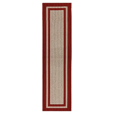 "Mohawk Tufted Sisal Runner - Red (1'10""x7')"