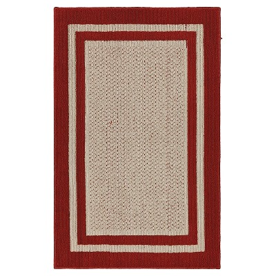 "Mohawk Tufted Sisal Accent Rug - Red (2'6""x4')"