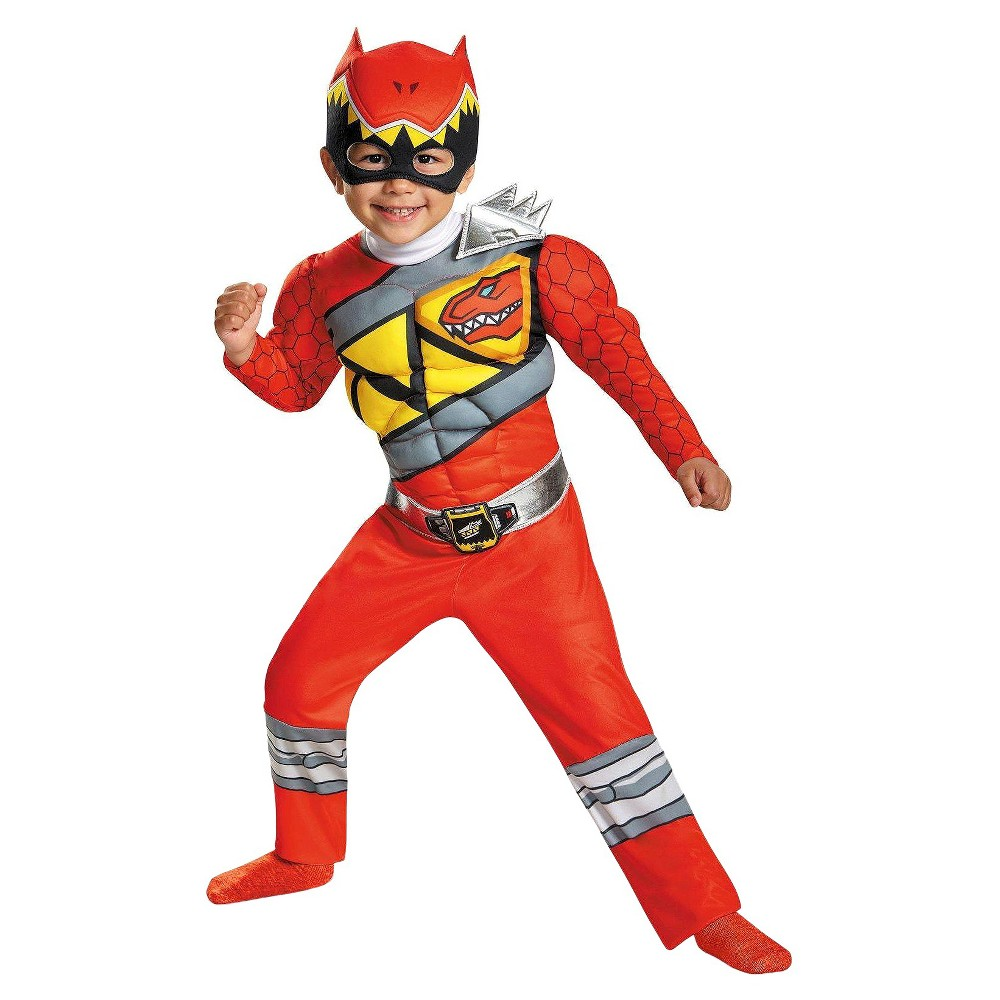 Toddler Boy's Power Rangers Dino Charge: Red Ranger Muscle Costume
