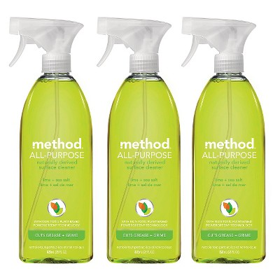 Method Lime & Sea Salt All Purpose Cleaner 28 oz - 3 pack ECOM