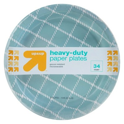 Heavy-Duty Paper Plates - 34 ct - up & up™