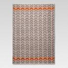 Flatweave Chevron Rug - Gray/Orange (5'x7') - Mudhut™