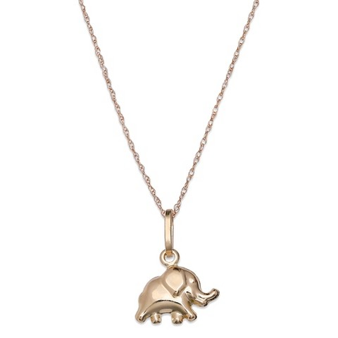 s elephant pendant in 10k yellow gold ye target