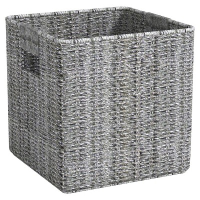 Decorative Basket Metro Aluminum Silver Square